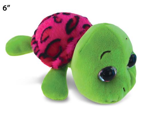 "Big Eye 6"" Plush - Pink Shell Sea Turtle"