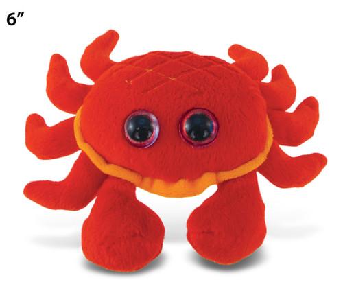 """Big Eye 6"""" Plush - Red Crab"""