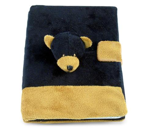 Plush Notebook Black Bear