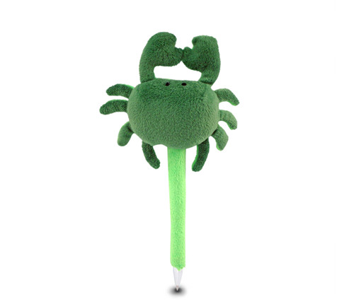 Plush Pen Green Crab