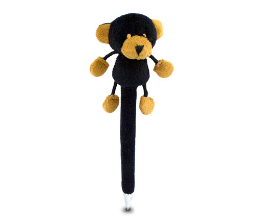 Plush Pen Black Bear