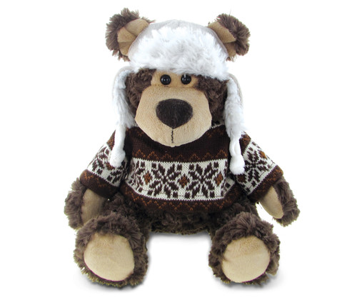 Super Soft Plush With Clothes Grizzly Bear