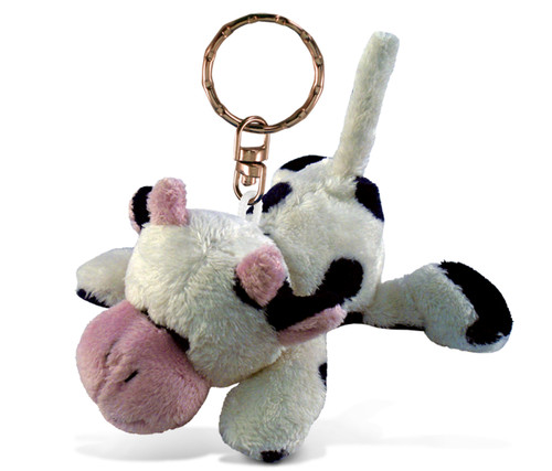 Plush Keychain Cow