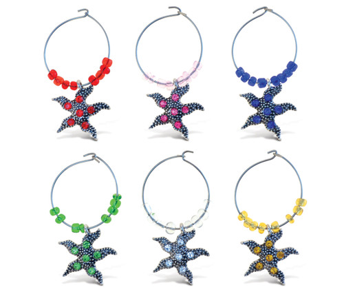 Cheers Wine Charms Metal Starfish
