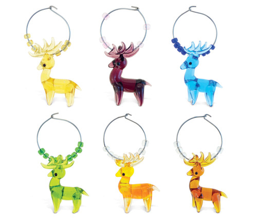 Cheers Wine Charms Glass Moose