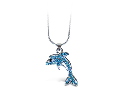 Sparkling Necklace Dolphin