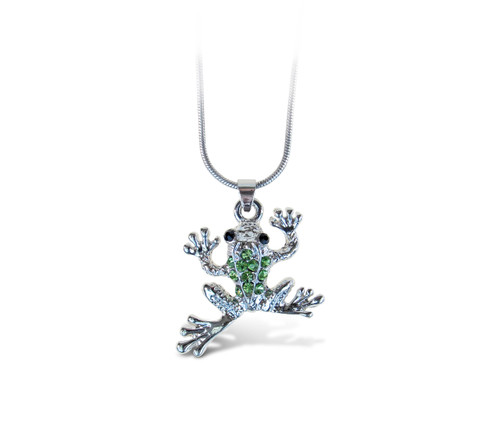 Sparkling Necklace Frog