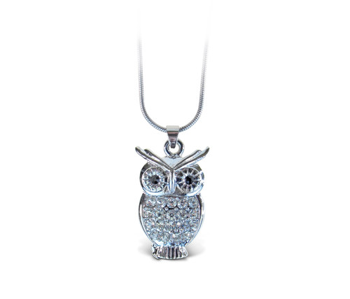 Sparkling Necklace Owl