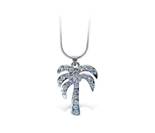 Sparkling Necklace Palm Tree