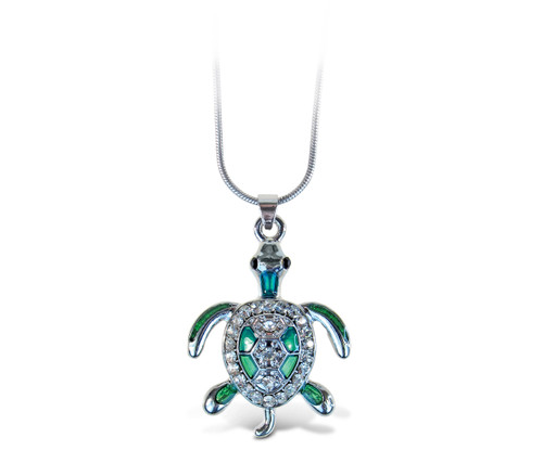 Sparkling Necklace Sea Turtle