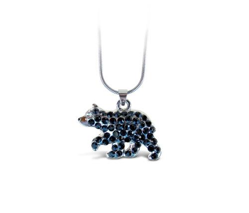 Sparkling Necklace Black Bear
