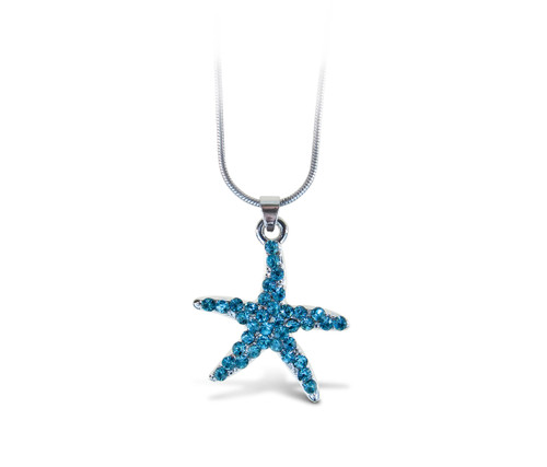 Sparkling Necklace Starfish