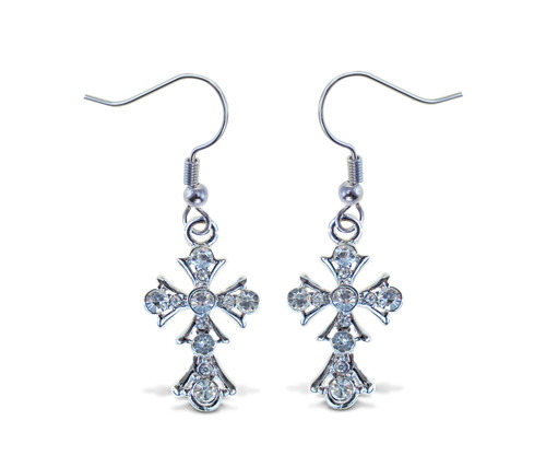 Sparkling Earrings Cross