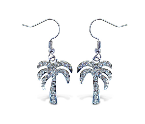 Sparkling Earrings Palm Tree