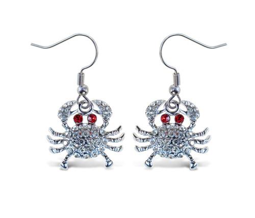 Sparkling Earrings Crab