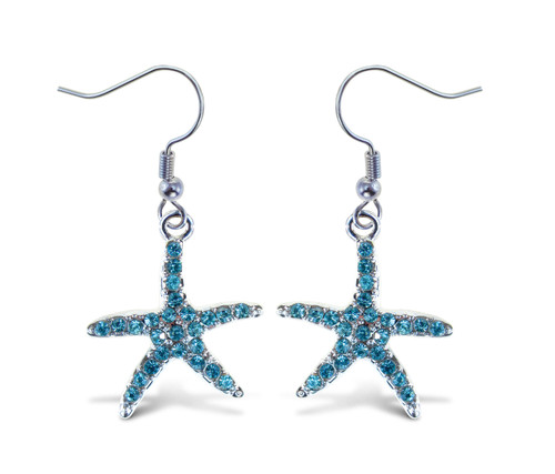 Sparkling Earrings Starfish