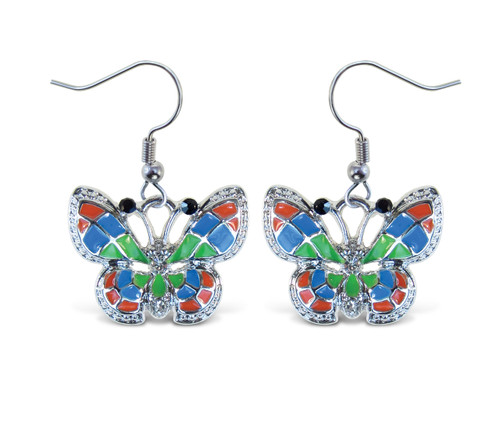 Sparkling Earrings Butterfly