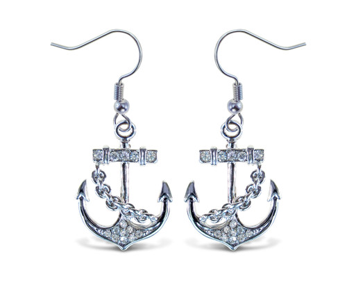 Sparkling Earrings Anchor