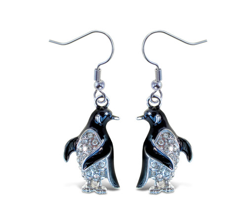 Sparkling Earrings Penguin