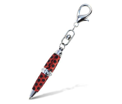 Sparkling Pens - Glitter - Red Polka Dots
