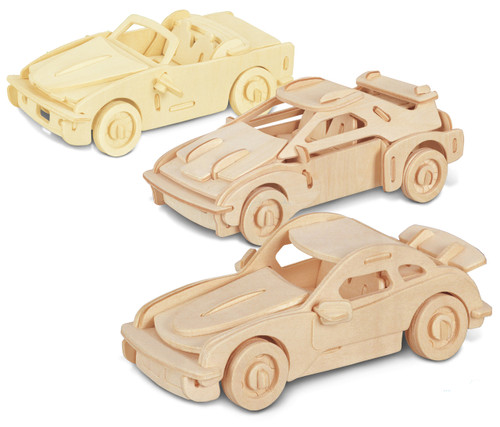F-20, P-911 and B-740I Wooden 3D Puzzle Construction Kit