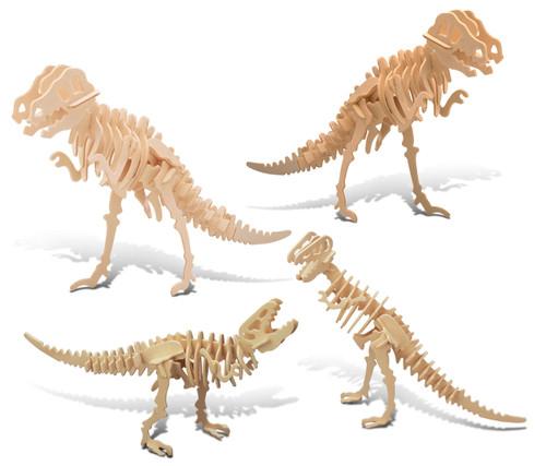Tyrannosaurus, Tyrannosaurus 2 In 1 and Big Tyrannosaurus Wooden 3D Puzzle Construction Kit