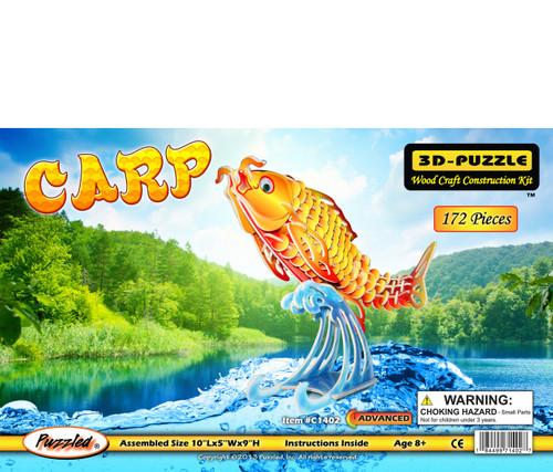 Carp Pre-Colored Wooden 3D Puzzle Construction Kit