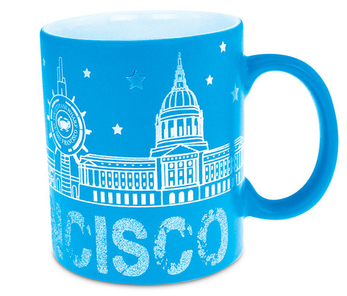 Ceramic Mug 11oz San Francisco Silver Skyline - Blue