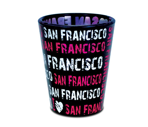 Shot Glass I Love San Francisco - Pink