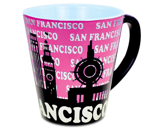 Latte Mug 12oz I Love San Francisco - Pink
