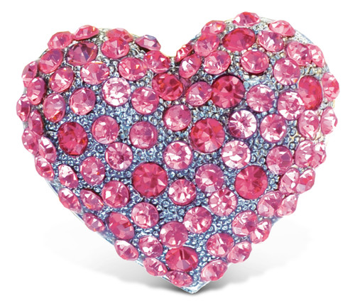 Sparkling Magnets Pink Heart