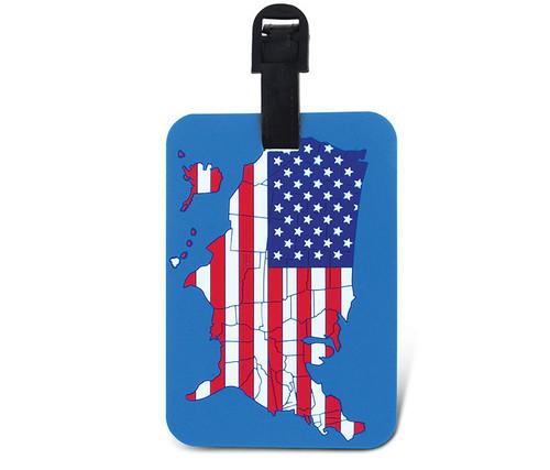 Luggage Tags US Map Flag