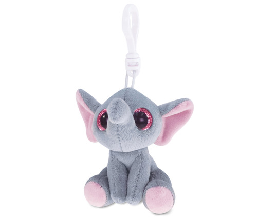 Big Eye Keychain Grey Elephant
