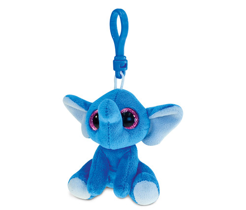 Big Eye Keychain Blue Elephant
