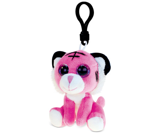 Big Eye Keychain Pink Tiger
