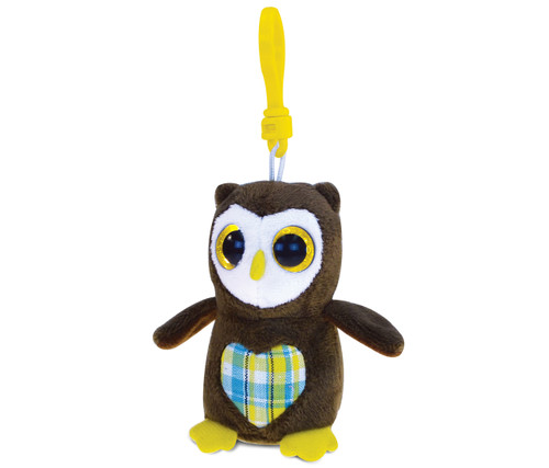 Big Eye Keychain Owl