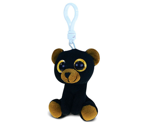 Big Eye Keychain Black Bear
