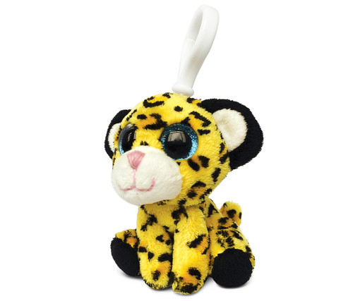 Big Eye Keychain Yellow Leopard