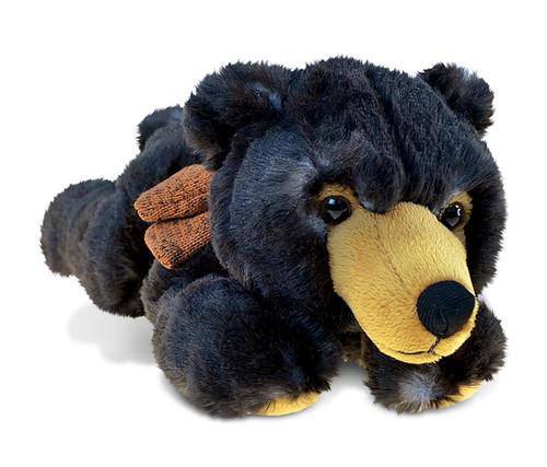 Super Soft Plush Lying Wild Black Bear
