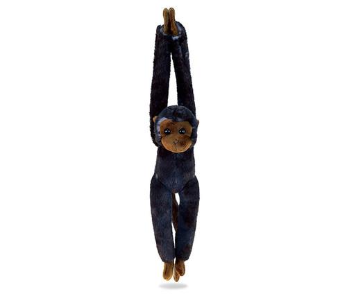 Super Soft Plush Long Arm Hanging Black Capuchin Monkey