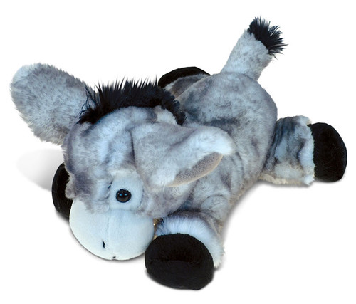 Super Soft Plush Lying Grey Donkey