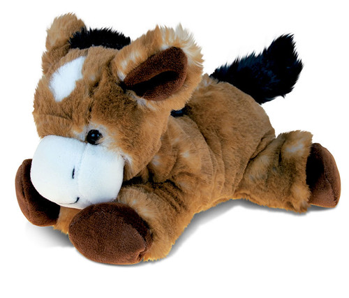 Super Soft Plush Lying Brown Donkey