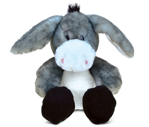 Super Soft Plush Sitting Grey Donkey