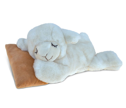 Super Soft Plush Sleeping Sheep With Pillow