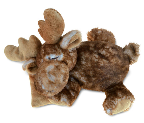 Super Soft Plush Sleeping Moose With Pillow