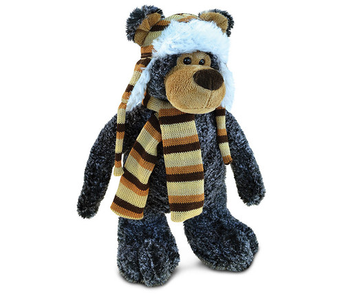 Super Soft Plush With Clothes  Standing Black Bear
