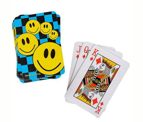Mini Smile Face Playing Cards 12 Decks Sport Gaming Set