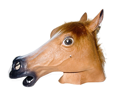 Realistic Brown Horse Costume Mask Costume & Accessories