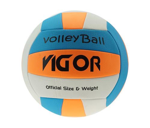 White-Blue-Orange Official Size & Weight Beach Volleyball Size 5 Volleyballs