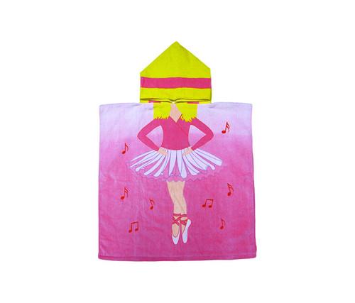Kids Ballerina Hooded Bath Towel Bath Towels